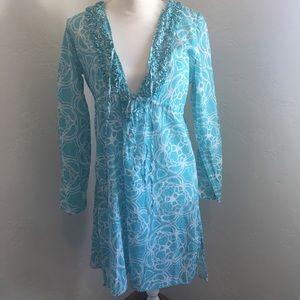 Mudpie   Beautiful Blue Swimsuit Coverup (M)